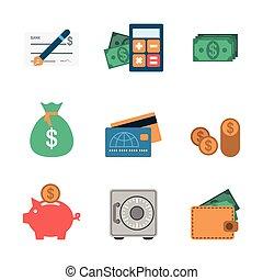 Finance Icons Flat