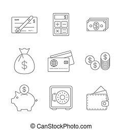 Finance Icons Line