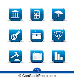 finance icons no.11..smooth series - Set of nine finance web...