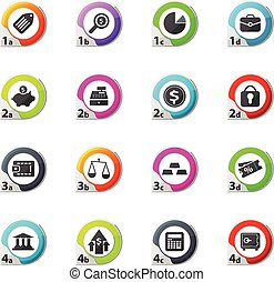 finance icons set - finance web icons for user interface...