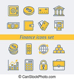Finance icons set vector illustration eps10