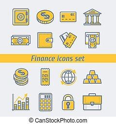 Finance icons set vector illustration eps10
