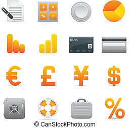 Finance Icons | Yellow 04