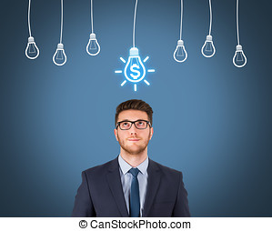Finance Idea Concepts over Human Head