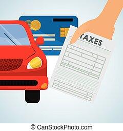 finance, impôts, icon., design., taxation, concept