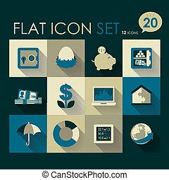 finance & investment icon set