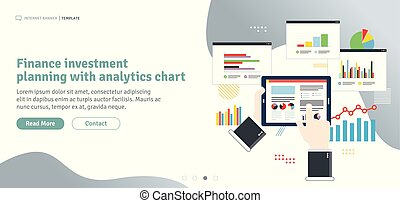 Finance investment planning with analytics chart