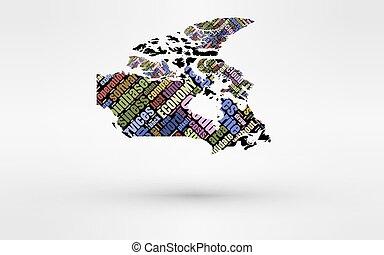 finance., mapa, uso, olá-tecnologia, custos, companhias, global, computando, negócio, hr, tema, serviços, tempo, pequeno, others., canada., tecnologia, nuvem, economia