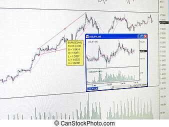 finance, marché, diagramme