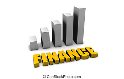 Finance Matters in 3d with Bar Graph Chart