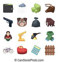 Finance, police, animals and other web icon in cartoon style.Sport, education, library icons in set collection.
