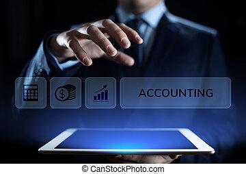 finance, povolání, kalkulace, concept., bankovnictví,...