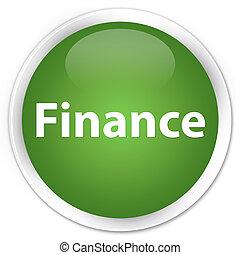 Finance premium soft green round button