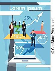 finance, professionnels, réussi, croissance, équipe