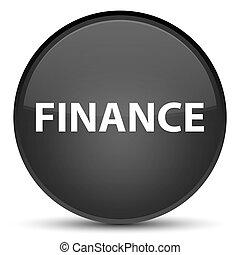 Finance special black round button