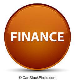 Finance special brown round button