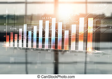Finance Stock Diagram. Mixed Media