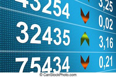 Finance - Business: Blue numbers dynamic design. Finance...