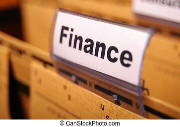 finance on business office folder showing financial success...
