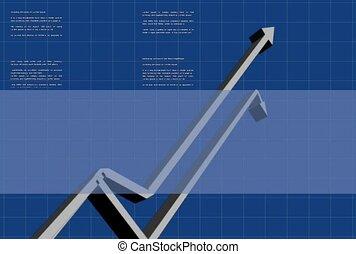 finance, track, chart