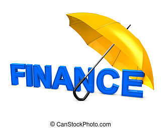 Finance umbrella - 3d image, Investment conceptual, finance...