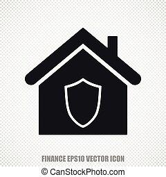 Finance vector Home icon. Modern flat design.