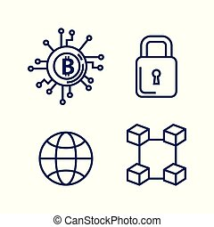 finance with bitcoin icons
