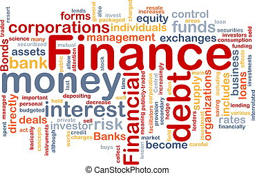 Word cloud concept illustration of money finance
