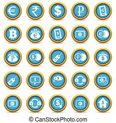 financeiro, ícone, jogo