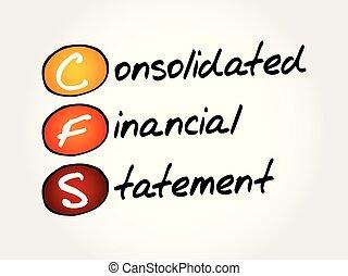 financeiro, acrônimo, consolidated, -, declaração, cfs