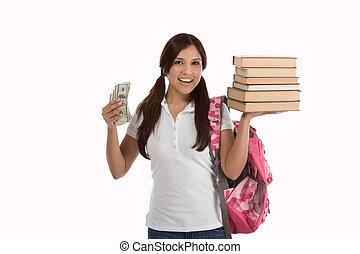 financeiro, empréstimo, custo, estudante, ajuda, educação
