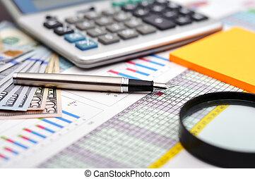 financeiro, gráficos