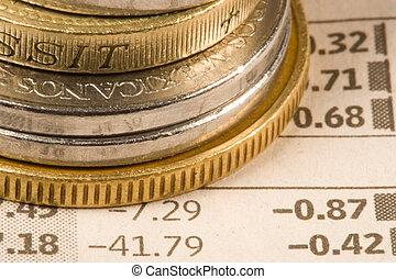 financeiro, moedas