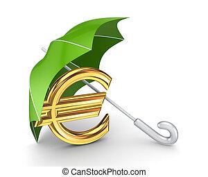 financeiro, proteção, concept.