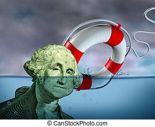financeiro, salvamento