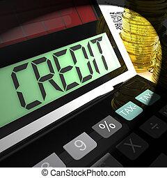 financement, prêt, emprunt, ou, crédit, calculé, spectacles