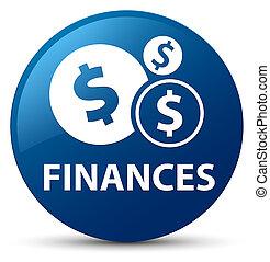 Finances (dollar sign) blue round button
