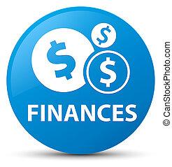 Finances (dollar sign) cyan blue round button