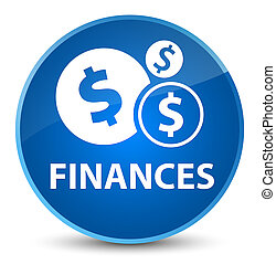 Finances (dollar sign) elegant blue round button