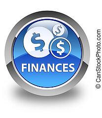 Finances (dollar sign) glossy blue round button