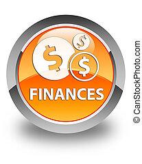 Finances (dollar sign) glossy orange round button