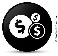 Finances dollar sign icon black round button