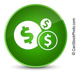 Finances dollar sign icon elegant green round button