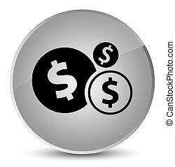 Finances dollar sign icon elegant white round button