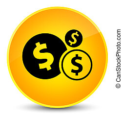 Finances dollar sign icon elegant yellow round button