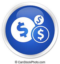 Finances (dollar sign) icon premium blue round button