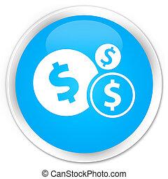 Finances dollar sign icon premium cyan blue round button