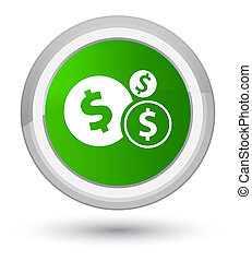 Finances dollar sign icon prime green round button