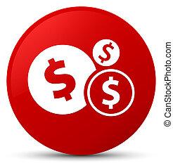 Finances dollar sign icon red round button