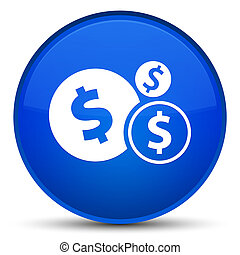 Finances dollar sign icon special blue round button